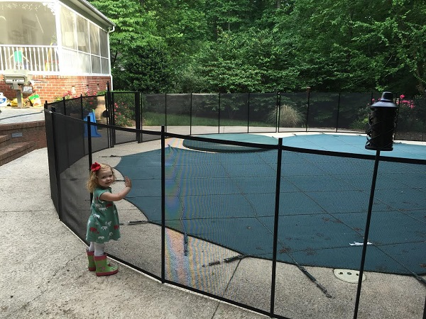 child pool safety fence installed in Raleigh, North Carolina