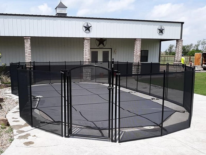 installed Life Saver Pool Fence with Self-Closing, Self-Latching Pool Gate
