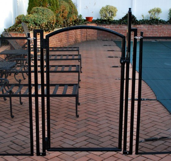 Life Saver arched self-closing pool gate